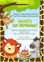 Invitacion Jungla Jungle Birthday Invitations Photo Birthday