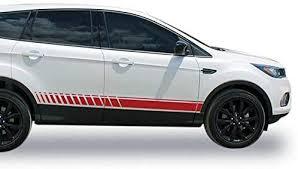 Amazon Com Bubbles Designs Decal Sticker Vinyl Lower Racing Stripe Kit Compatible With Ford Escape 2013 2019 Automotive