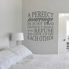A Perfect Marriage Wall Decals Bedroom Love Wall Quotes Sweetums Signatures