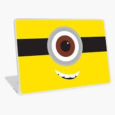 Minion Eye Laptop Skin By Speckodee Redbubble