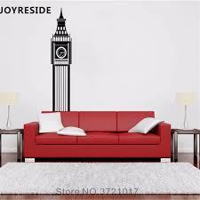 Joyreside Big Ben Wall Decal Clock Wall Sticker Building Vinyl Decal Home Livingroom Bedroom Art Decor Interior Design A763 Wall Stickers Aliexpress