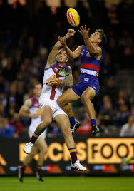 Luke Dahlhaus, Claye Beams - Claye Beams Photos - AFL Rd 5 - Western  Bulldogs v Brisbane - Zimbio