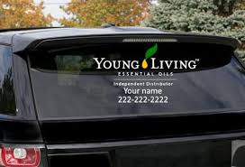 Young Living Car Window Decal Long Decal Etsy