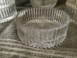 mikasa crystal clear heavy glass bowls