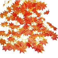 Simulation Maple Leaf Decoration Rattan Home Wedding Party Decoration 12pcs Sale Price Reviews Gearbest