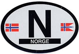 N Norway Oval Decal Stationery Tomten Catalog