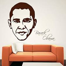 Amazon Com Homedecorstore Vinyl Wall Decal Barack Obama Design Removable Living Decor Wall Picture Hds6080 Home Kitchen