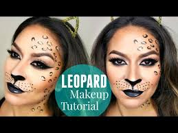y leopard cheetah makeup tutorial