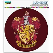 Amazon Com Graphics And More Harry Potter Gryffindor Painted Crest Automotive Car Window Locker Circle Bumper Sticker Automotive