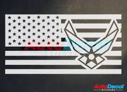 American Flag Air Force Car Sticker Vinyl Window Decal Usaf Veteran Usa 322 Ebay
