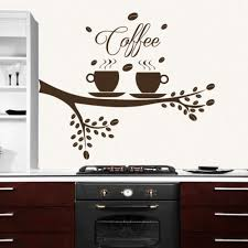 Coffee Tree Wall Decal Coffee Cup Decal Kitchen Decor Vinyl Cafe Sticker 563 Coffee Wall Decor Wall Painting Decor Interior Design Living Room Decor