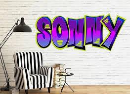 Customizable 90 S Graffiti Font Wall Decals
