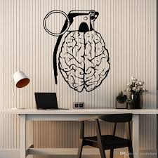 Creative Brain Wall Stickers For Teen Room Mind Anatomy Vinyl Wall Decal Decor Living Room Large Wall Sticker Art Murals Kids Wall Stickers Removable Kitchen Wall Decals From Joystickers 12 57 Dhgate Com