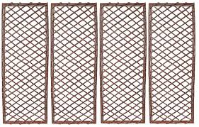 Set Of 4 Extra Strong Willow Garden Wall Trellis Panels Uk Garden Products