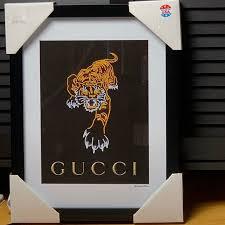 Gucci Wall Art Gucci Tiger Framed Print Wall Art Poshmark
