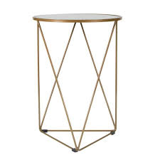 metal accent triangle gold base
