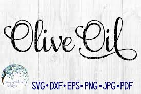 Olive Oil Label Pantry Kitchen Vinyl Decal Organize Script Bottle Graphic By Wispywillowdesigns Creative Fabrica