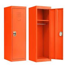 Locker For Kids Metal Locker For Bedroom Kids Room Steel Storage Lockers For Toys Clothes Sports Gear 49 Inch Orange Walmart Com Walmart Com