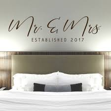 Mr Mrs Wall Decal Master Bedroom Wall Decor Established Date Decal Modern Calligraphy Wall Decal Wedding Gift Idea Old Barn Rescue