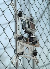 Lynkspyder Mounted To A Chain Link Fence At A Baseball Field With A Gopro Hero 3 Gopro Diy Gopro Photography Accessories