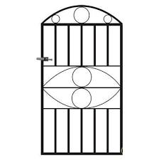 monaco single metal garden gate uk