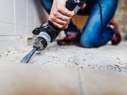 black asbestos mastic can this floor