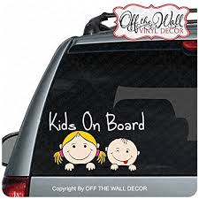 Trucks Girl Boy Kids On Board Sign Vinyl Decal Sticker For Cars Wall Stickers