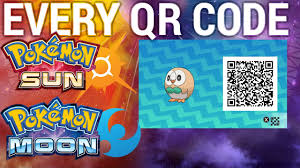 pokemon sun and moon all qr codes