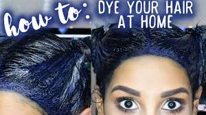 dye your hair at home blue black