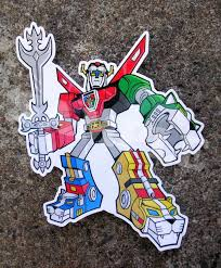 Voltron Die Cut Vinyl Sticker 80s Skateboard Laptop Car Decal Sold By Neon Panther On Storenvy