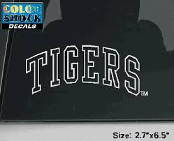 Color Shock Lsu Tigers White Outline Decal 2 7 X 6 5 Purple And Gold Sports