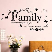 art words quote wall sticker family quotes home decoration