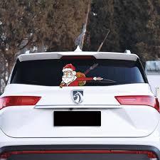 Car Stickers Christmas Santa Claus Waving Wiper Decal For Rear Window 3d Cartoon Festive Car Sticker Vinyl Decal For Vehicle Rear Christmas Decoration Houses Christmas Decoration Items From Abdula 0 72 Dhgate Com