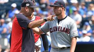 Video Frustrated Trevor Bauer Hurls Baseball From Pitcher S Mound Over Center Field Fence Mlb Nbc Sports