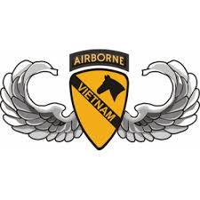 1st Cavalry Division Airborne Jump Wings Vietnam Decal Sticker
