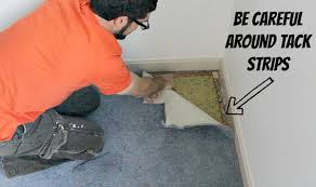 how to remove old carpet without
