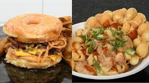doughnut burger portable pasta among