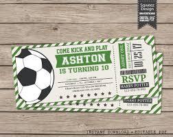Soccer Ticket Invitation Soccer Invitation Soccer Birthday