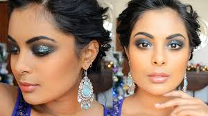 glitter smokey eyes for tan indian