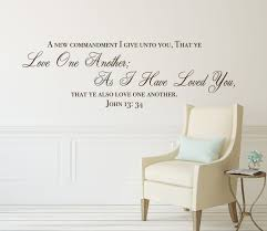 Amazon Com Bible Verse Wall Decals John 13 34 Scripture Quote Love One Another Christian Vinyl Lettering Decor For Home Office Church Handmade