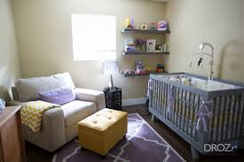 purple and yellow tags project nursery