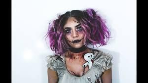 voodoo doll halloween makeup by sophia