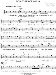 Lari White Don T Fence Me In Sheet Music Leadsheet In C Major Download Print Sku Mn0147292