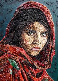 لوحات فنية لوحة مرسومة عيون الرومانسية