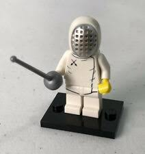 Lego Series 13 Fencer 71008 Minifigure Rapier Fencing Mask Collectible Cmf For Sale Online Ebay