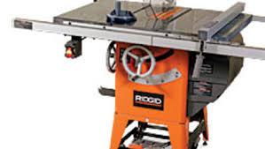 Review Rigid Tablesaw R4511 Hybrid Finewoodworking