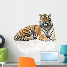 Amazon Com Wallmonkeys Fot 32915930 24 Wm221894 Tiger Peel And Stick Wall Decals H X 24 In W 24 24 W Medium Home Kitchen