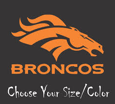 Denver Broncos Football Vinyl Decal Sticker For Nfl Car