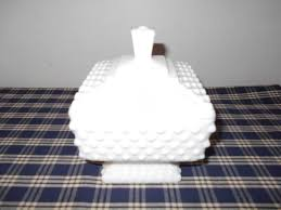 fenton milk glass candy dish with lid