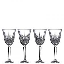 crystal wine glasses white red wine
